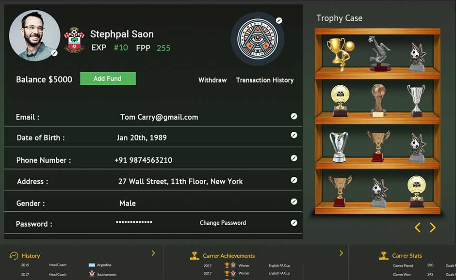 Achievement Badges in fantasy sports softwares