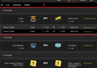 DOTA-2 Esports Betting Platform
