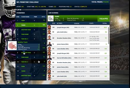 Fantasy Sports Website Development