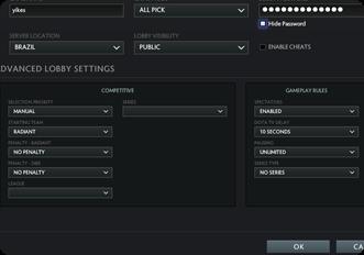 Esports Tournament Platform For Dota-2 PRIVATE LOBBY MODES