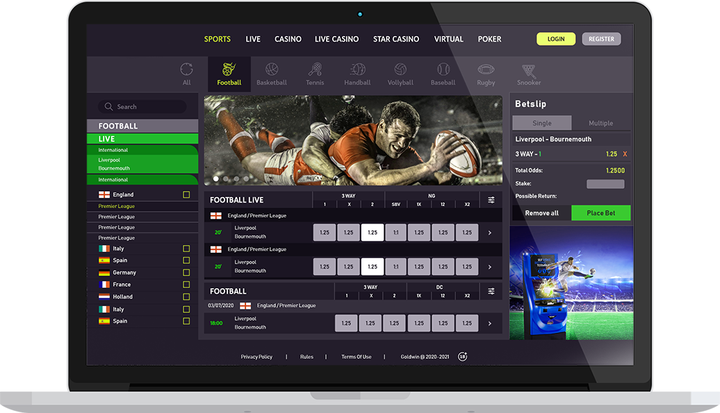 Sports betting software development bovada betting lines