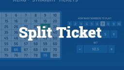 Keno Split Ticket Online Casino Games