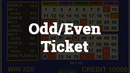 Keno Odd/Even Ticket Online Casino Games