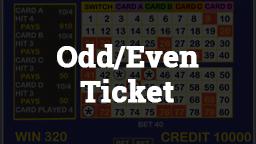 Keno Odd/Even Ticket Online Casino Games