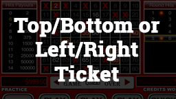 Keno Top/Bottom or Left/Right Ticket Online Casino Games