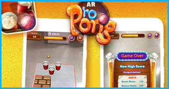 AR - BEER PONG AR-Ping Pong Game Development