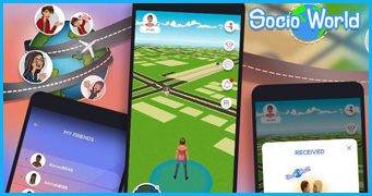 Socio-world Location-based AR & VR Game Development