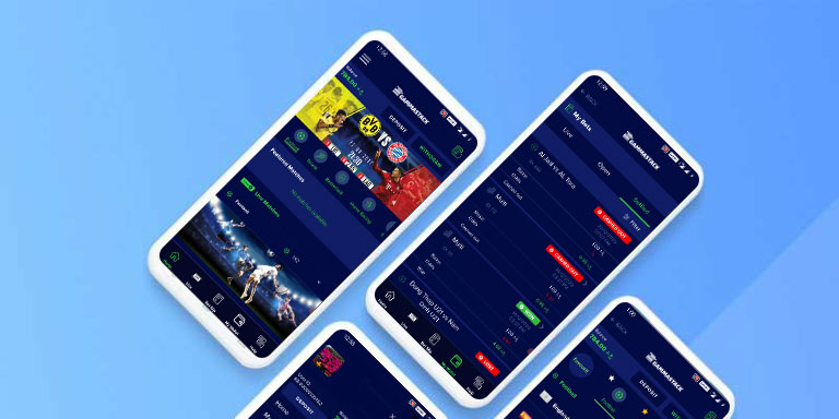 Sports betting software User Interface